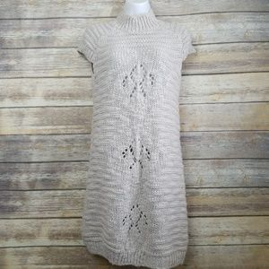 ZARA Knit Wool Alpaca Short Sleeve Chunky Dress